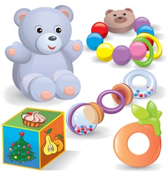 Baby toys set vector