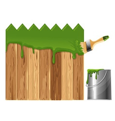 Painted wooden fence vector