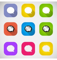 Set of colored speech bubbles vector