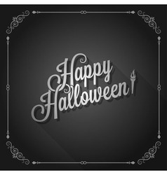 Halloween movie screen vintage background vector