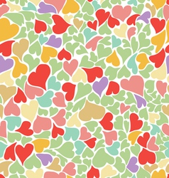 Seamless pastel heart background vector