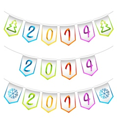 2014 isolated bunting flags decoration elements vector