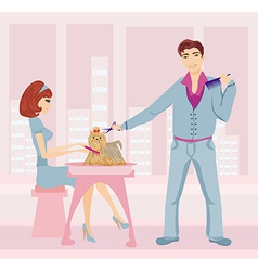 Beauty salon for dogs vector