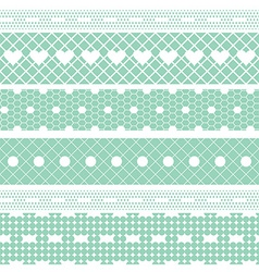 White lace ribbons fabric seamless pattern vector