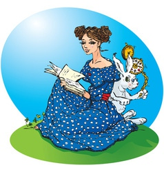 Alice adventures in wonderland vector