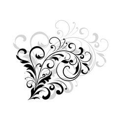 Floral design element with swirling leaves vector