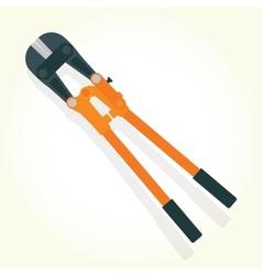 Hydraulic shears isolated vector