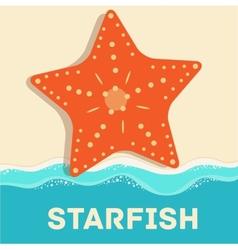 Retro flat starfish icon concept design vector
