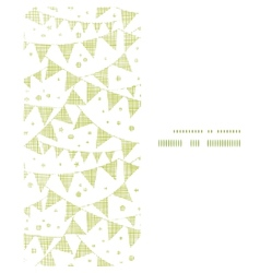 Green textile party bunting vertical frame vector