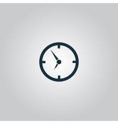 Circle clock icon vector