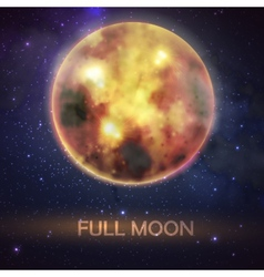 Mystical of bloody full moon on the night sky vector