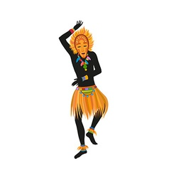 Ethnic dance african man in a mask vector
