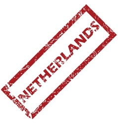 New netherlands rubber stamp vector