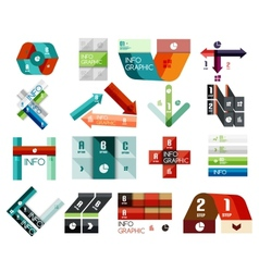 Set of option infographics templates vector