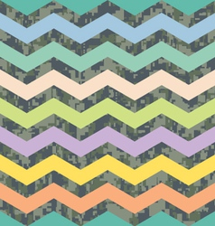 Summer chevron on fall camo background pattern vector