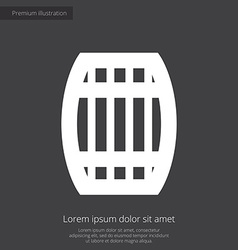 Barrel premium icon white on dark background vector