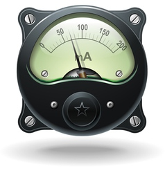 Realistic analog signal meter vector