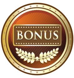 Bonus gold label vector