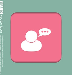Character avatar dialogue vector