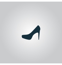 Female shoes web icon design vector