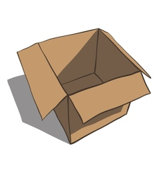 Open box isolated on white background cartoon vector