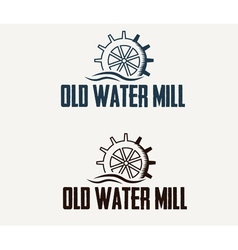 Old water mill vector