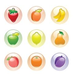 Fruits button gray web 20 icons vector