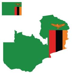 Zambia flag vector