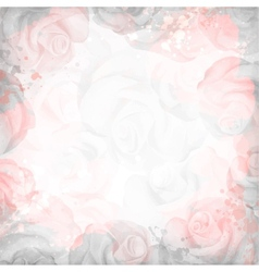 Abstract romantic rose background in pink and gray vector