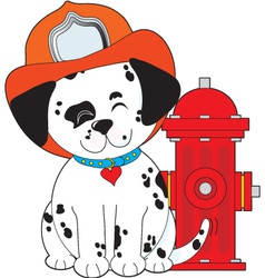 Dalmation fire dog vector