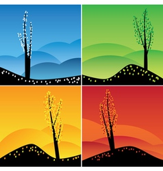 Images of four seasons vector