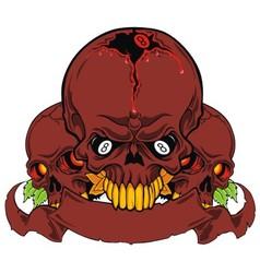 Grunge skull isolated vector