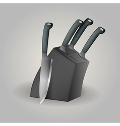 Knife set vector