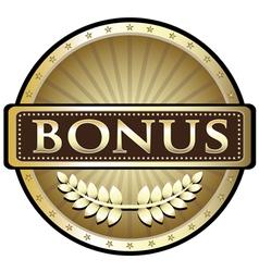 Bonus gold award vector
