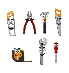 Set of cartoon diy hand tools vector