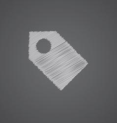 Tag sketch logo doodle icon vector