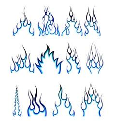 Fire pattern set vector