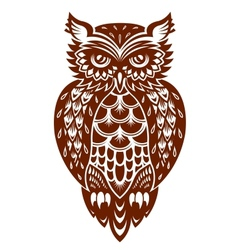 Brown owl vector