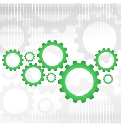 Green gears vector