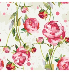 Seamless vintage floral background pattern vector