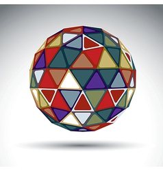 Bright abstract spherical object with kaleidoscope vector