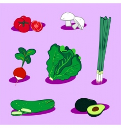 Vegetable icons 4 vector