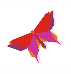 Spring origami butterfly vector