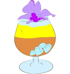 Refreshing cocktail with ice vector