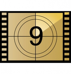 Film countdown number vector