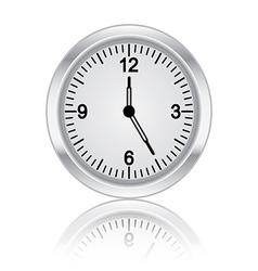 3d metal clock vector