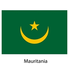 Flag of the country mauritania vector