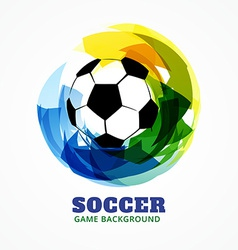 Abstract soccer game design vector