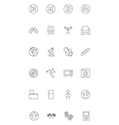 Line icons 20 vector