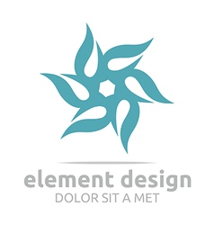 Logo abstract ultramarine element design icon vector